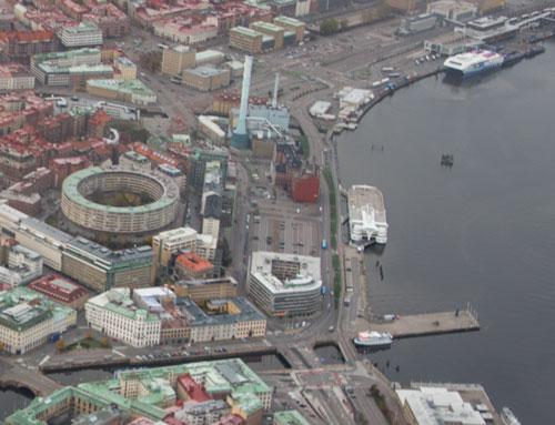 Skeppsbron (Flygfoto: Per Hallén 2012)