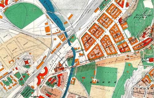 Området kring Olskrokstorget 1923