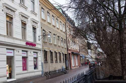 Norlings hus sett från Kyrkogatan. Foto: Per Hallén.
