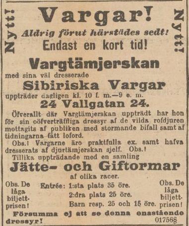 Ur: Göteborgs Aftonblad 30 januari 1897